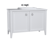 62174 - Valarte Washbasin Unit, 120 cm, with doors, with countertop washbasin, Matte White