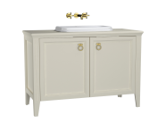 62176 - Valarte Washbasin Unit, 120 cm, with doors, with countertop washbasin, Matte Ivory