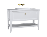 62201 - Valarte Washbasin Unit, 120 cm, with drawers, with countertop washbasin, Matte White