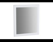 62213 - Valarte Flat Mirror, 65 cm, Matte White