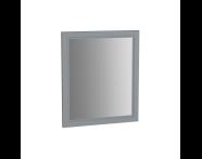 62214 - Valarte Flat Mirror, 65 cm, Matte Grey