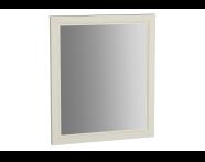 62215 - Valarte Flat Mirror, 65 cm, Matte Ivory