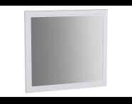62216 - Valarte Flat Mirror, 80 cm, Matte White