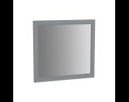 62217 - Valarte Flat Mirror, 80 cm, Matte Grey