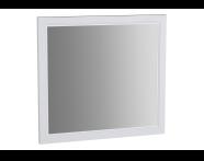 62218 - Valarte Flat Mirror, 80 cm, Matte Ivory