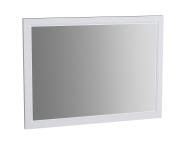 62219 - Valarte Flat Mirror, 100 cm, Matte White