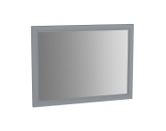 62220 - Valarte Flat Mirror, 100 cm, Matte Grey