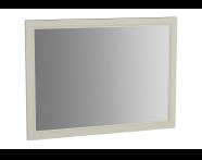 62221 - Valarte Flat Mirror, 100 cm, Matte Ivory