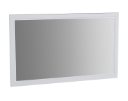62222 - Valarte Flat Mirror, 120 cm, Matte White