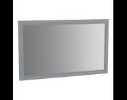 62223 - Valarte Flat Mirror, 120 cm, Matte Grey