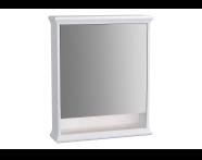 62225 - Valarte Mirror Cabinet, 65 cm, Matte White, left
