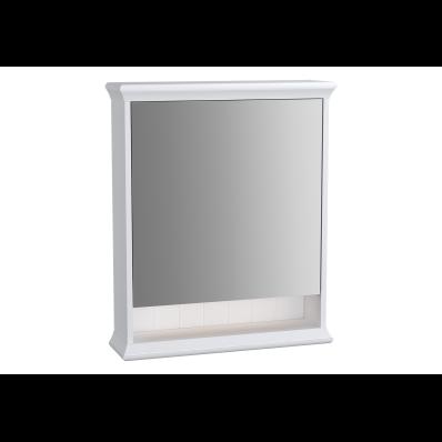 Valarte Mirror Cabinet, 65 cm, Matte White, left