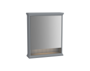 62226 - Valarte Mirror Cabinet, 65 cm, Matte Grey, left