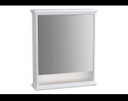 62227 - Valarte Mirror Cabinet, 65 cm, Matte Ivory, left