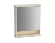 62230 - Valarte Mirror Cabinet, 65 cm, Matte Ivory, right