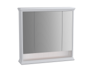 62231 - Valarte Mirror Cabinet, 80 cm, Matte White