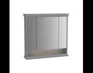 62232 - Valarte Mirror Cabinet, 80 cm, Matte Grey