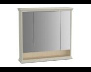 62233 - Valarte Mirror Cabinet, 80 cm, Matte Ivory
