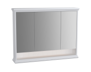62234 - Valarte Mirror Cabinet, 100 cm, Matte White