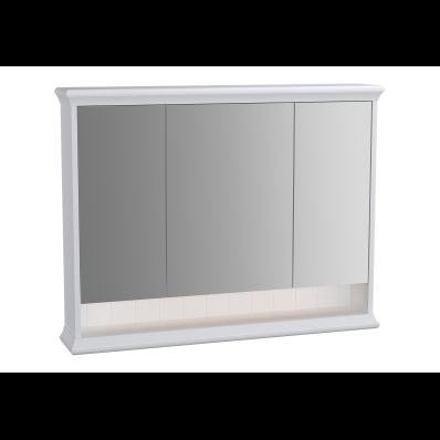 Valarte Mirror Cabinet, 100 cm, Matte White