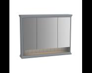 62235 - Valarte Mirror Cabinet, 100 cm, Matte Grey