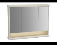 62236 - Valarte Mirror Cabinet, 100 cm, Matte Ivory