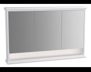 62237 - Valarte Mirror Cabinet, 120 cm, Matte White