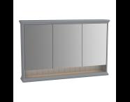 62238 - Valarte Mirror Cabinet, 120 cm, Matte Grey