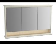 62239 - Valarte Mirror Cabinet, 120 cm, Matte Ivory