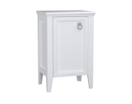62246 - Valarte Mid Unit, 55 cm, Matte White, left