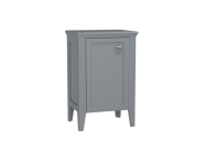 62247 - Valarte Mid Unit, 55 cm, Matte Grey, left