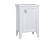 62249 - Valarte Mid Unit, 55 cm, Matte White, right