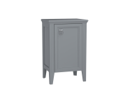 62250 - Valarte Mid Unit, 55 cm, Matte Grey, right