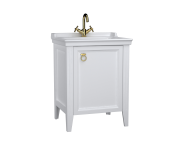62259 - Valarte Washbasin Unit, 65 cm, with doors, with vanity washbasin,one faucet hole, Matte White, right