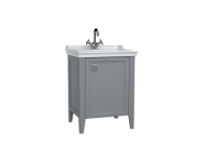 62260 - Valarte Washbasin Unit, 65 cm, with doors, with vanity washbasin, one faucet hole, Matte Grey, right