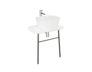 "62560 - ""Plural Washbasin Unit, 70 cm, Wall-Hung, Low, White"""
