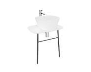 "62561 - ""Plural Washbasin Unit, 70 cm, Wall-Hung, Low, Matte White"""