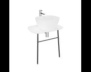 "62561 - ""Plural Washbasin Unit, 70 cm, Wall-Hung, Low, Matte White"""