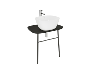 "62562 - ""Plural Washbasin Unit, 70 cm, Wall-Hung, Low, Matte Black"""
