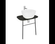 "62562 - ""Plural Washbasin Unit, 70 cm, Wall-Hung, Low, Matte Black"""