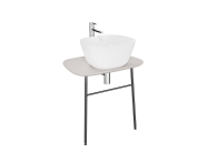 "62563 - ""Plural Washbasin Unit, 70 cm, Wall-Hung, Low, Matte Taupe"""