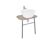 "62564 - ""Plural Washbasin Unit, 70 cm, Wall-Hung, Low, Matte Mink"""