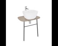 "62564 - ""Plural Washbasin Unit, 70 cm, Wall-Hung, Low, Matte Mink"""