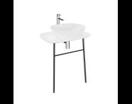 "62565 - ""Plural Washbasin Unit, 70 cm, Wall-Hung, High, White"""
