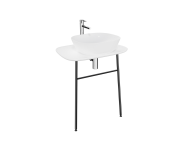 "62566 - ""Plural Washbasin Unit, 70 cm, Wall-Hung, High, Matte White"""