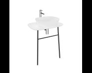 "62566 - ""Plural Washbasin Unit, 70 cm, Wall-Hung, High, Matte White"""