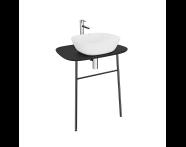 "62567 - ""Plural Washbasin Unit, 70 cm, Wall-Hung, High, Matte Black"""