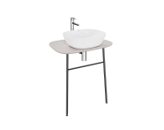 "62568 - ""Plural Washbasin Unit, 70 cm, Wall-Hung, High, Matte Taupe"""