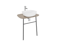 "62569 - ""Plural Washbasin Unit, 70 cm, Wall-Hung, High, Matte Mink"""