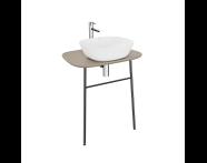 "62569 - ""Plural Washbasin Unit, 70 cm, Wall-Hung, High, Matte Mink"""